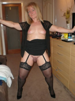 spreading legs mature mother-in-law..