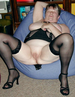 Fat granny with big tits and sexy..