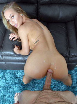 Blue-eyed blonde screams and moans